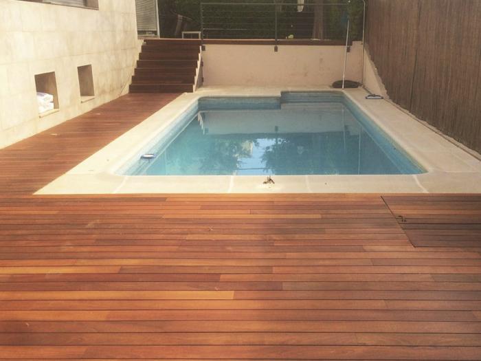 Suelo de madera para exteriores excellent son piezas - Tipo de madera para exterior ...